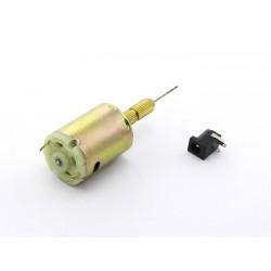 Motor 12VDC + broca 1mm p/ furação de PCB