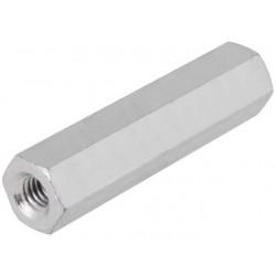 Hexagonal screwed spacer sleeve Int. thread: M3 80mm steel