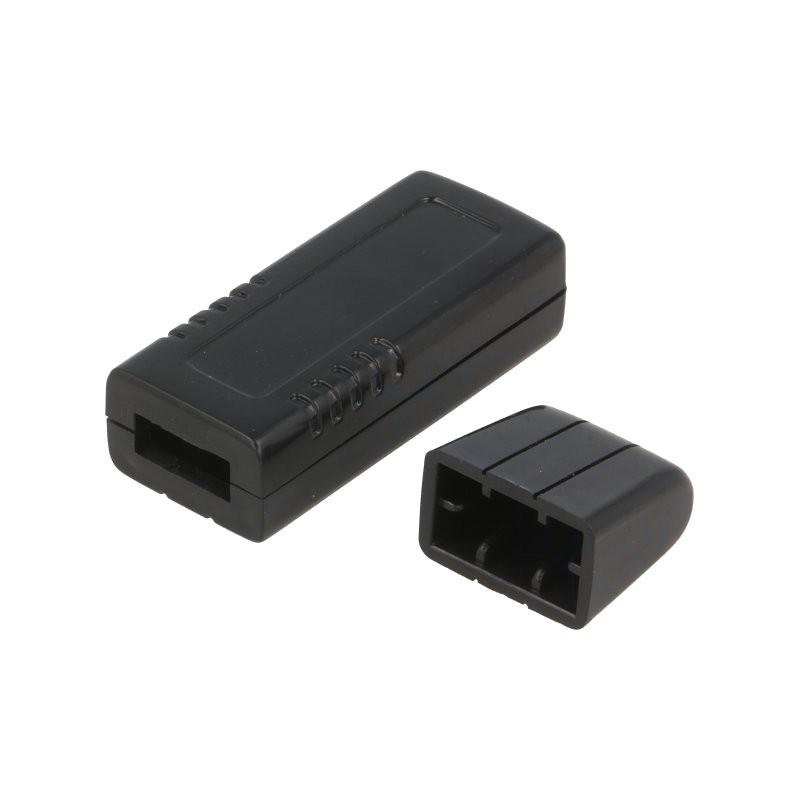 Enclosure: for USB, X:20mm, Y:66mm, Z:12mm, ABS, black