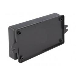 Caixa para electrónica - X:67mm Y:129mm Z:23mm - polystyrene preto