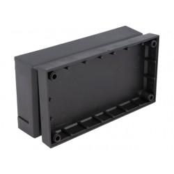 Caixa para electrónica - X:66mm Y:124.8mm Z:41mm - polystyrene preto