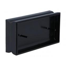 Caixa para electrónica U - X:50mm Y:100mm Z:24mm - ABS preto