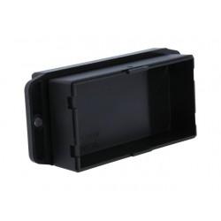 Caixa para electrónica c/ abas - X:45.6mm Y:90mm Z:27.5mm - ABS preto