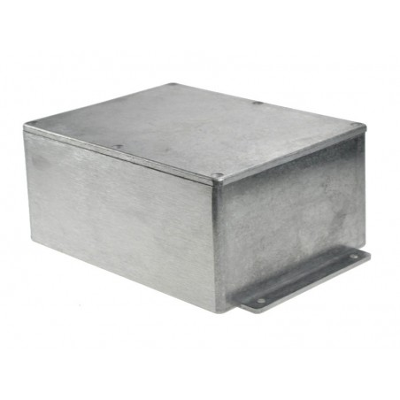 Caixa em Alumínio c/ abas para electrónica - X:127mm Y:165mm Z:75mm - IP66