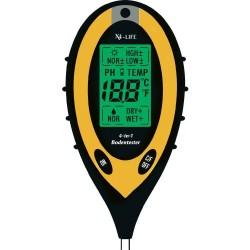 Soil Tester 4 in 1: moisture, temperature, pH, light intensity