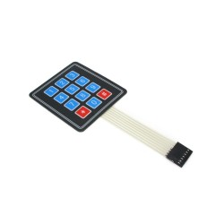 Sealed Membrane 4X3 Button Pad with Sticker