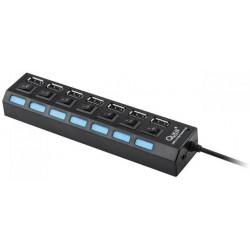 7-Port USB 2.0 Hub High Speed ON/OFF w/ Switchs