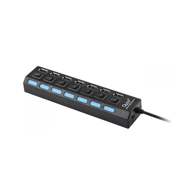 7-Port USB 2.0 Hub High Speed ON/OFF w/ Switchs