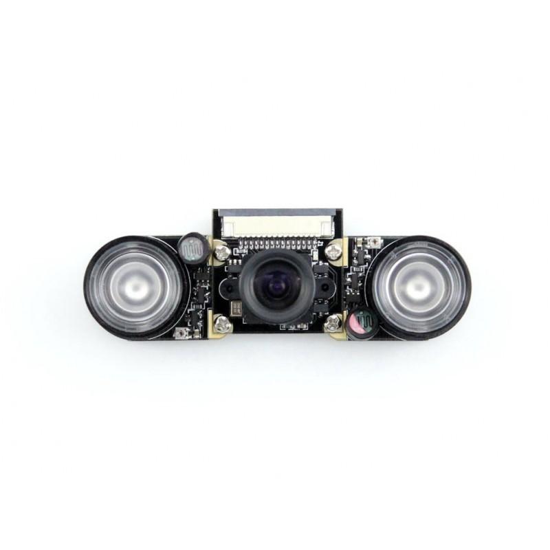 Camera p/ Raspberry Pi c/ ajuste de Foco e 2 iluminadores IR