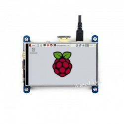 Display HDMI IPS 4'' 800x480 c/ ecrã tátil resistivo