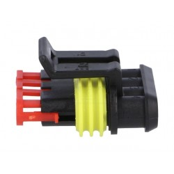 Connector: wire-wire, Superseal 1.5, plug, female, PIN:3, IP67