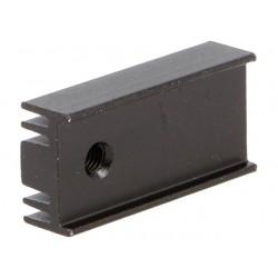Dissipador em Aluminio p/ transistores TO220 25.4x12x6.5mm - Preto
