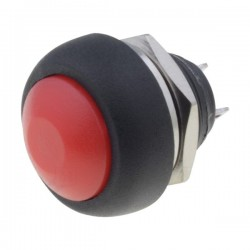 Switch push-button 1-position 1A/250VAC black Body black