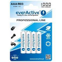 Pilhas Recarregaveis AAA 1000mAh pack de 4