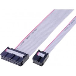Ribbon cable with IDC connectors, 10x28AWG, Cable ph:1.27mm, 600mm