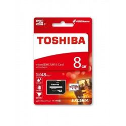 8GB microSDHC card TOSHIBA Class10 UHS-I with adapter