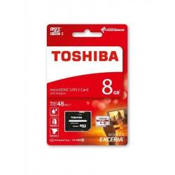 Cartão micro SDHC 8GB TOSHIBA Class 10 UHS-I com adaptador