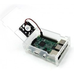 Transparent Acrylic Case+Cooling Fan for Raspberry Pi 3/2/B