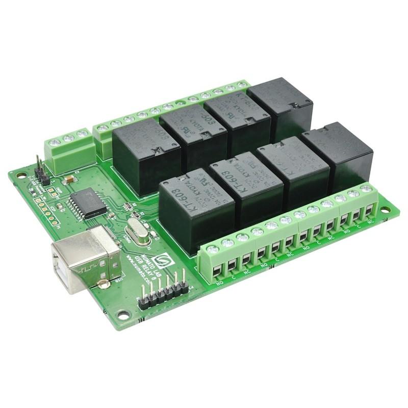 Módulo relé USB - 8 canais