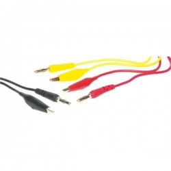 Test lead Pack 3x Banana Plug - Crcocodile Clip (80cm)