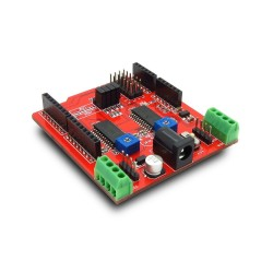 ITEAD Dual Step Motor Driver Shield Expansion Board Kit for Arduino - Red