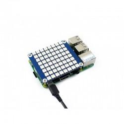 True color RGB LED HAT (B) for Raspberry Pi, colorful display, 8 × 8 grid