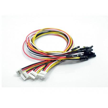 Conector Grove para 4 fios jumper fêmea (conjunto de 5) - ACC17112O