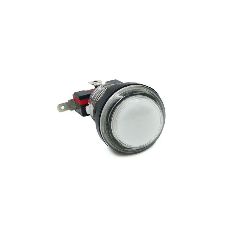 33mm White Round Arcade Push Button Switch