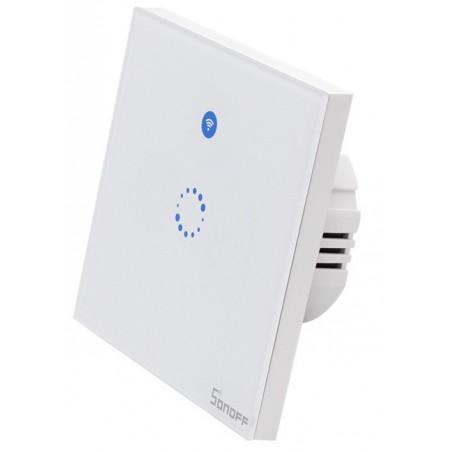 Sonoff T1 EU: Interruptor WIFI RF capacitivo para montagem em parede