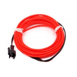EL Wire Vermelho 3 metros - TEM03016B