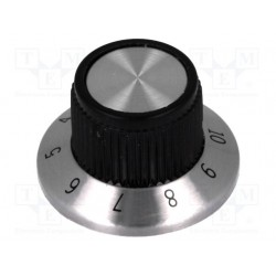 Graduated knob with flange...