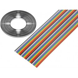 Flat cable colorido 1.27mm...