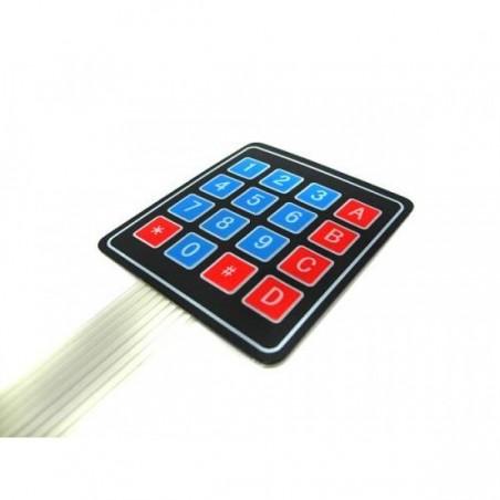 KEYPAD - Teclado de matriz 4x4 selado e autocolante