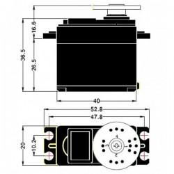 Pan and Tilt Kit (Black Anodized) (no servos)